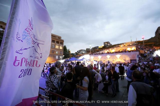 Concierto de jazz celebrado en Ereván