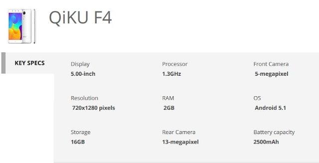 qiku-f4-specs-techfoogle.com