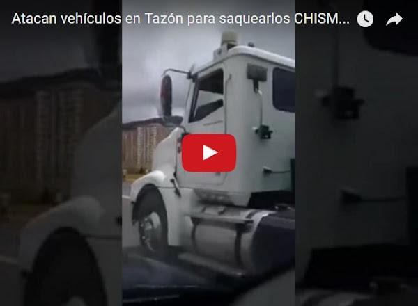 Habitantes de Misiones atacan a vehículos en tazón buscando comida