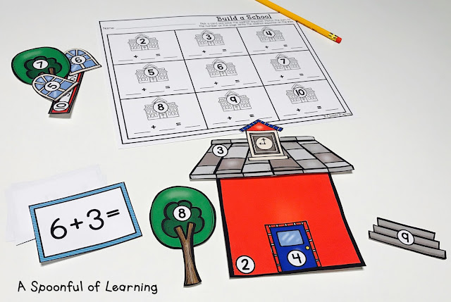Back to School Centers - Math Center 10