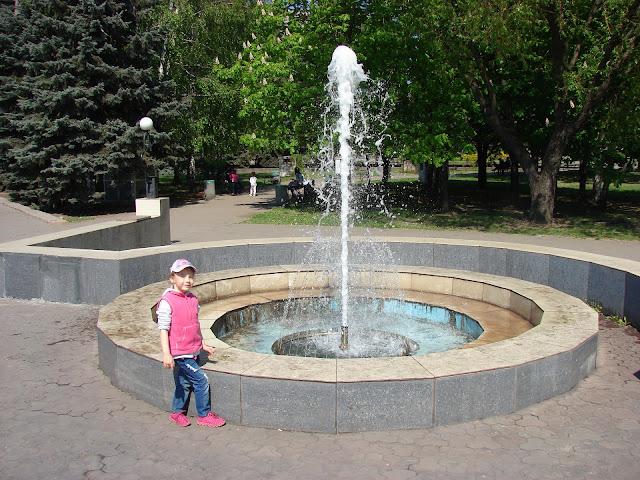 Один из фонтанов в центре города