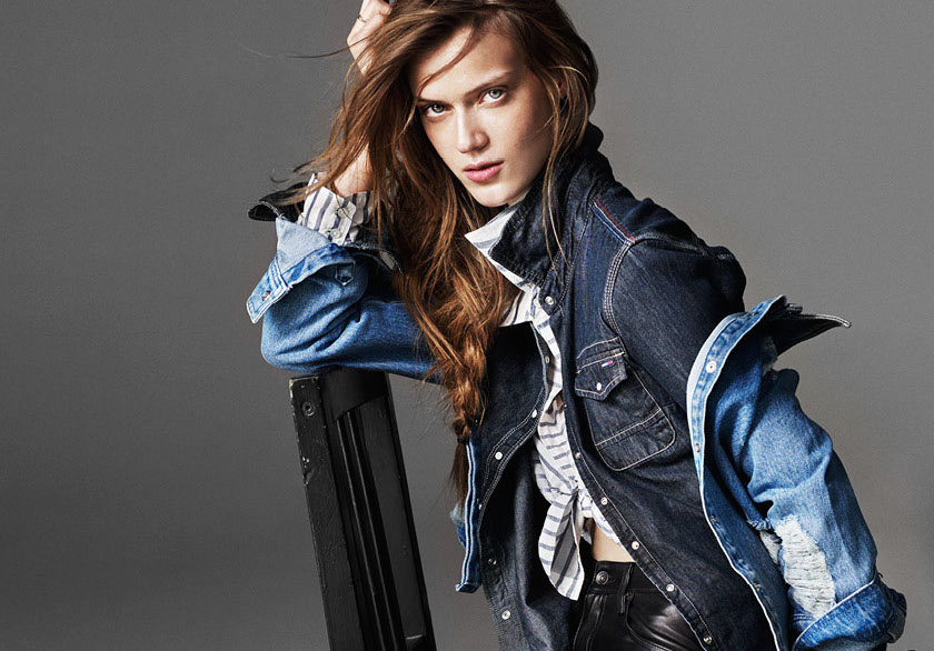 the girl in denim: tess hellfeuer by dan smith for harper's bazaar china march 2015