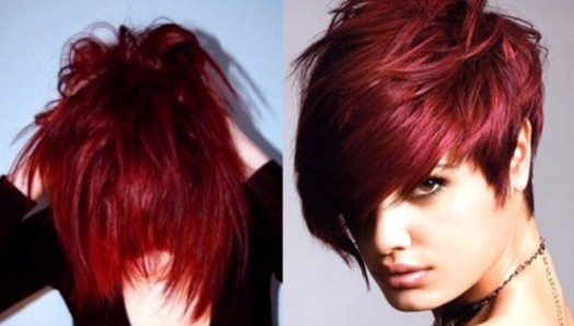 Crimson Red Rose Hair Color
