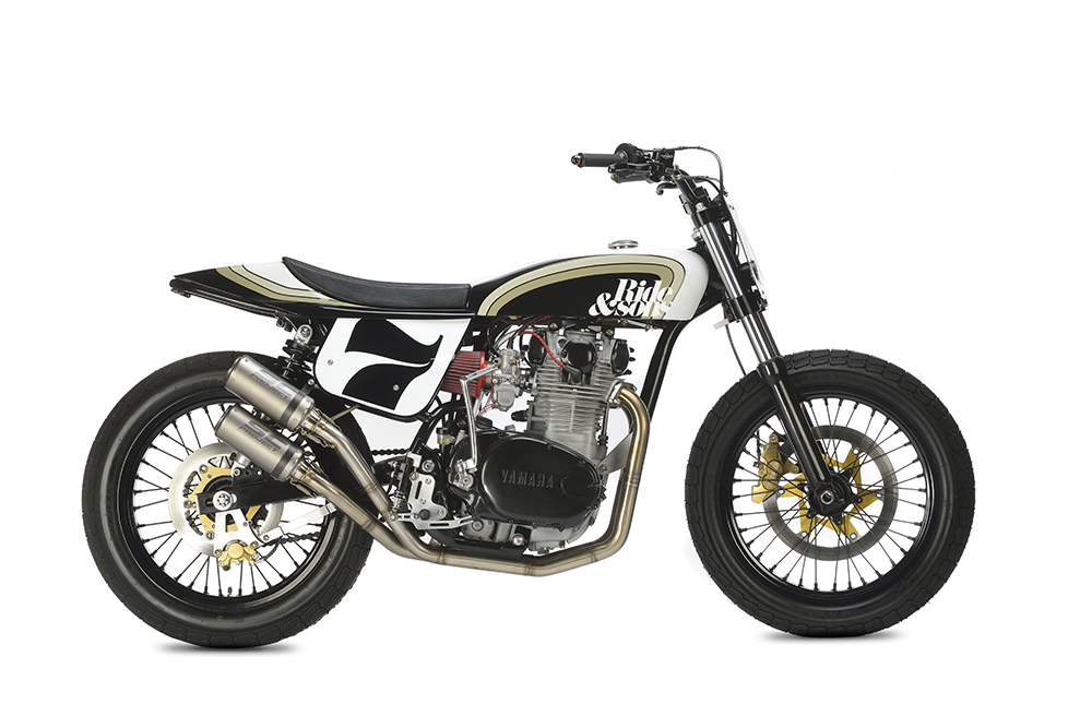 Yamaha xs650 flat track rocketgarage cafe racer magazine for Garage preparation moto
