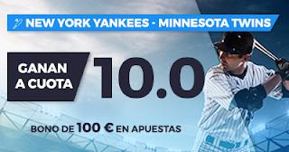 Paston Megacuota MLB: New York Yankees vs Minnesota Twins 19-20 septiembre