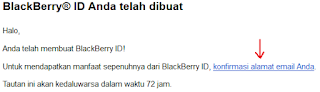 Konfirmasi akun blackberry messenger