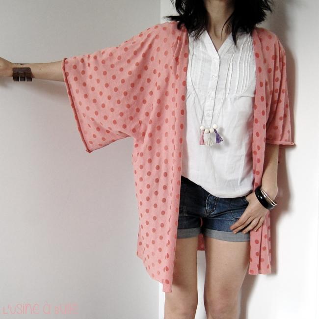 Diy gilet kimono ultra facile l 39 usine bulle - Diy couture facile ...