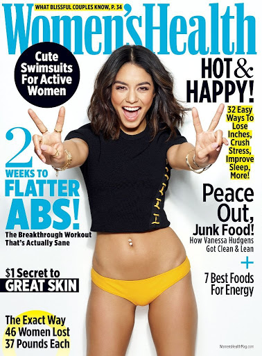 Vanessa Hudgens photoshoot Women's Health Magazine May 2017 cover issue