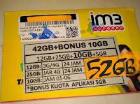 Perdana Indosat 42 gb 24jam non stop 3G dan 4G