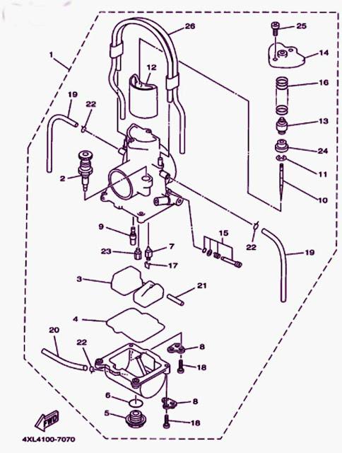 1998 Yamaha Yz250 Carburetor Diagram