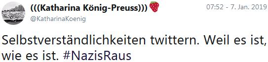 Verfassungsfeind Katharina König-Preuss: Nazis raus