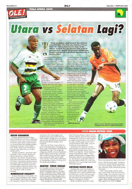 AFRICAN CUP 2000 FOOTBALL NEWS