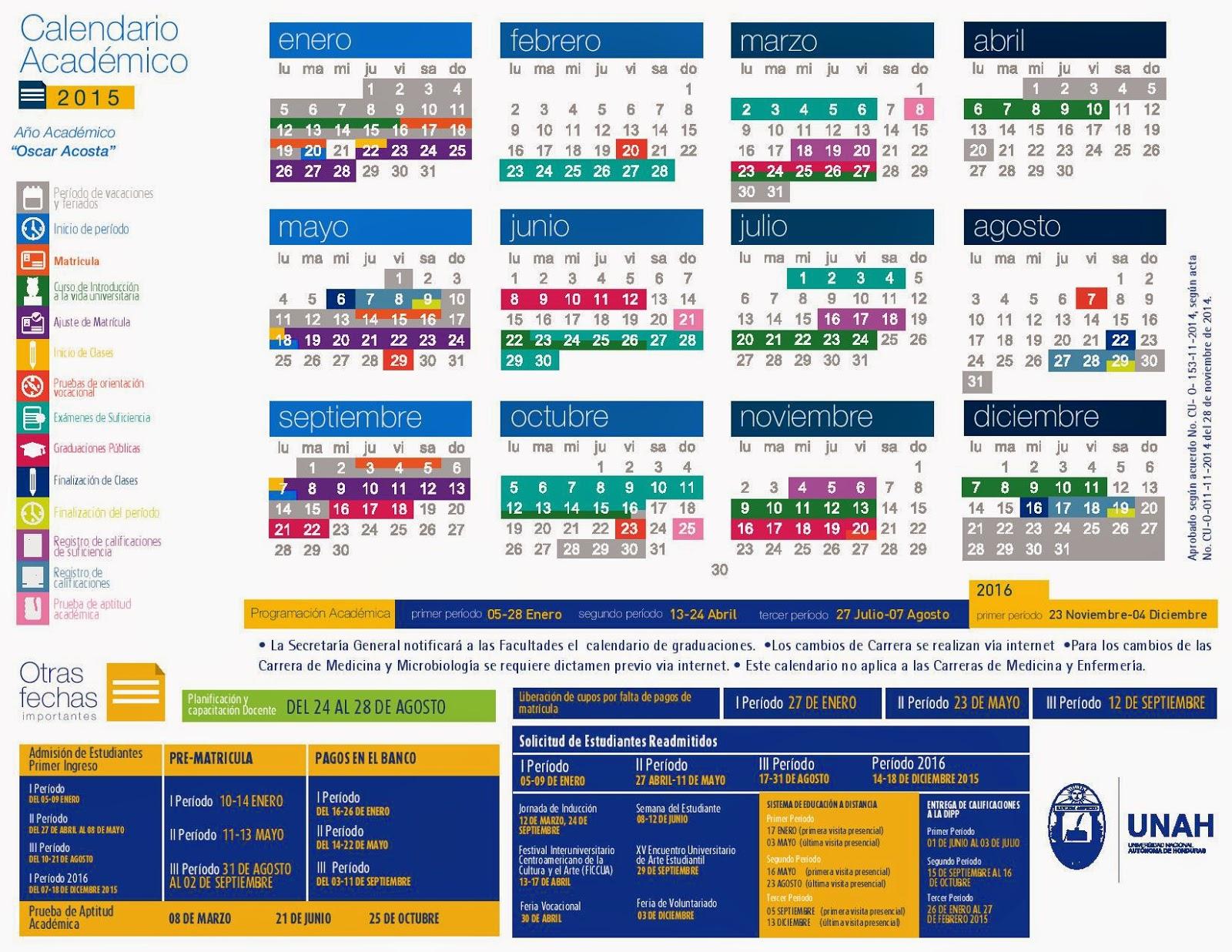 Calendario Academico Basica 2018 2