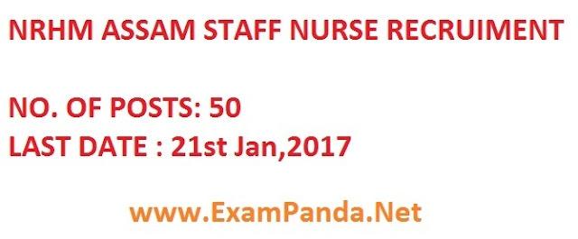 NRHM Assam 50 Staff Nurse Posts Apply @ nrhmassam.in