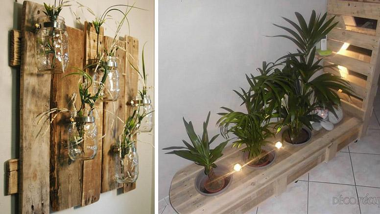 Increibles ideas de decoraci n artesanal diy con palets de - Decorar paredes con palets ...