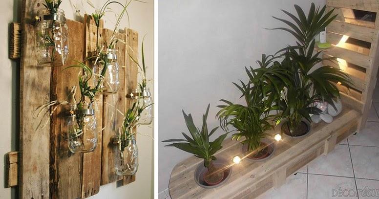 Increibles ideas de decoraci n artesanal diy con palets de - Ideas con palets de madera ...