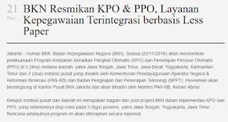 Ini Daerah Yang Telah Menerapkan KPO dan PPO !!