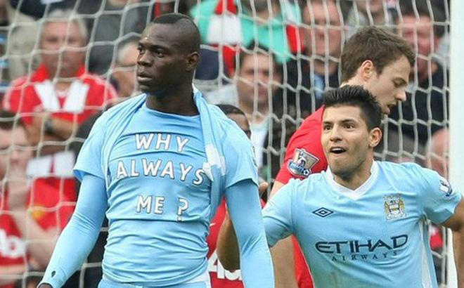 Balotelli trong màu áo của Manchester City