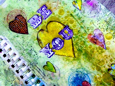 close up of doodled hearts
