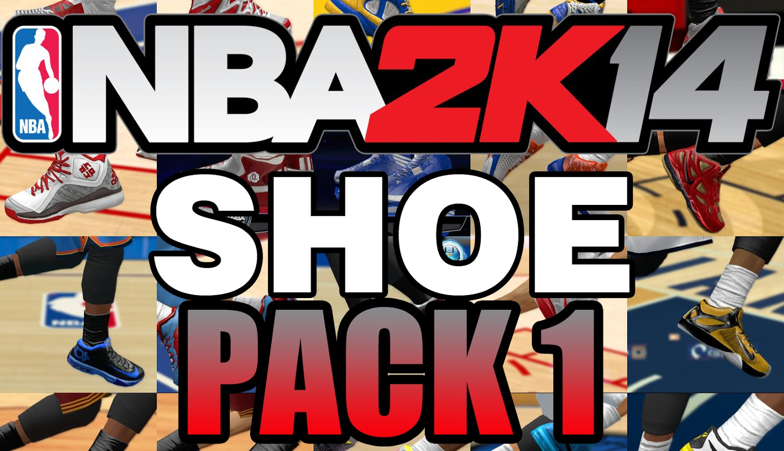 best sneakers 0f17f ad18d SHOES PACK 1 [FOR 2K14] - NBA 2K Updates, Roster Update ...