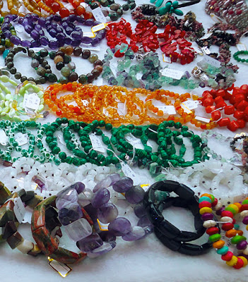 semi precious stones necklace at Bogyoke Market