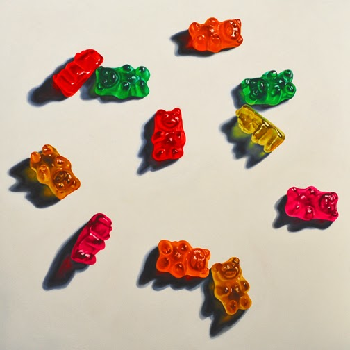 Gummy bear art painting realism fine art junk food
