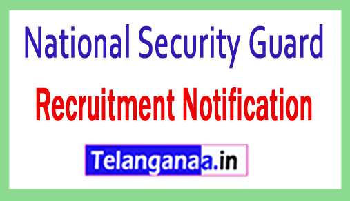 National Security Guard NSG Recruitment