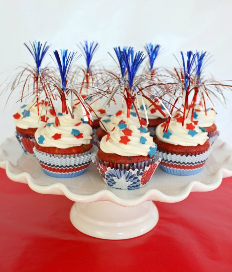 red white blue velvet cupcakes
