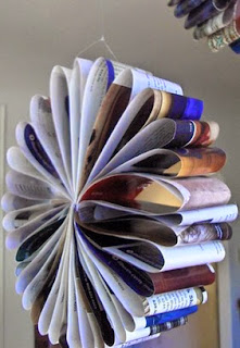 http://manualidadesdehogar.com/flores-colgantes-de-papel-periodico/