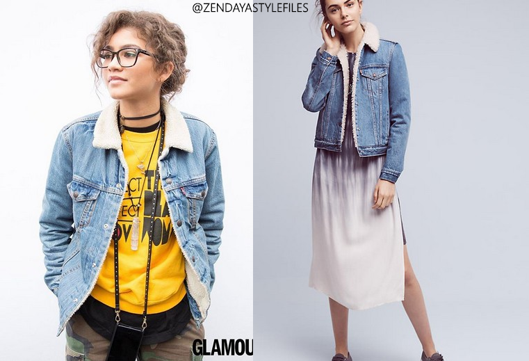 b50b85d6005e10 One of Zendaya s most popular items is the Denim Sherpa jacket by Levi s(Full  Retail  128)