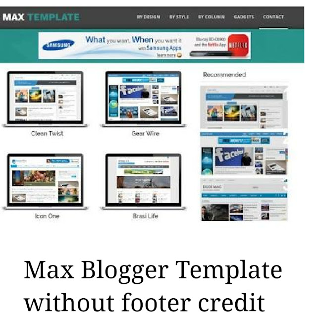 Max blogger template image