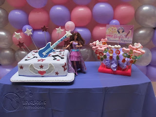 DECORACION FIESTA TEMATCA BARBIE POP STAR