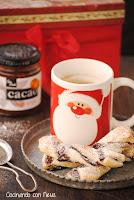 Lazos de hojaldre con mermelada de naranja con cacao Can Bech