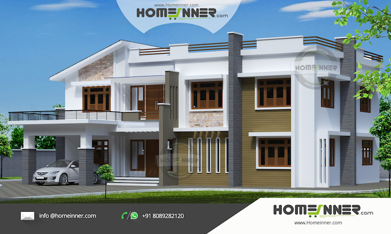 Luxury Contemporary 3125 sqft 4 Bhk Modern Indian Home Design