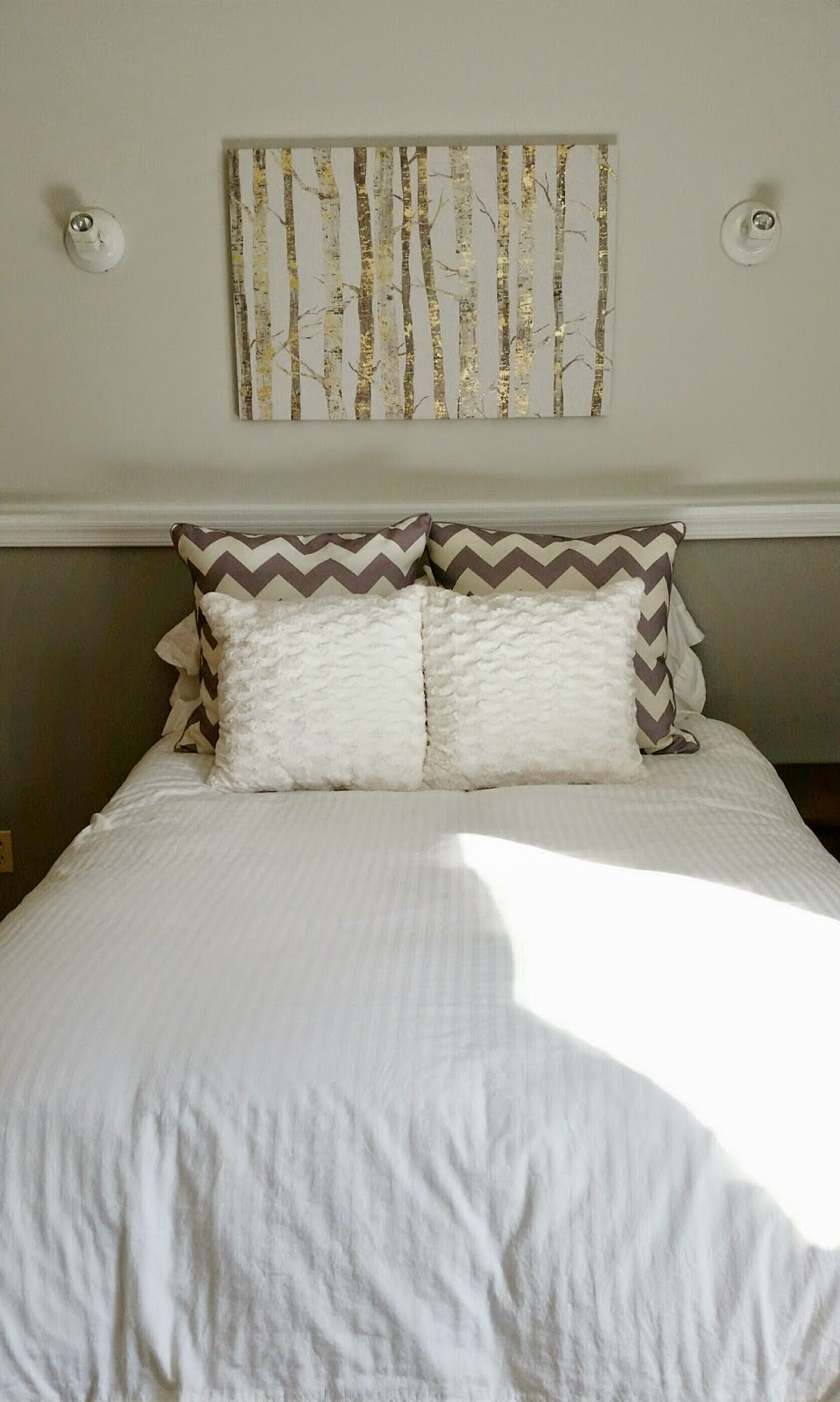 Gold and gray bedroom makeover before and after