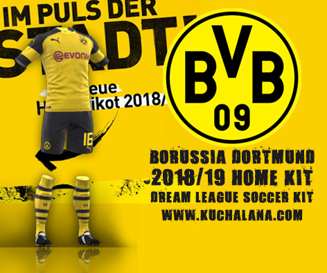 Borussia Dortmund 2018/19 Kit - Dream League Soccer Kits ...