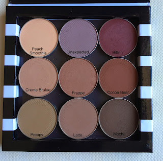 Makeup geek matte eyeshadow swatches on dark skin woc