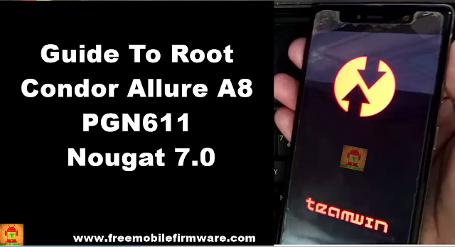 Guide To Root Condor Allure A8 PGN611 Nougat 7.0