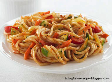 Chicken Spaghetti Recipe in Urdu - lahorerecipes.blogspot.com