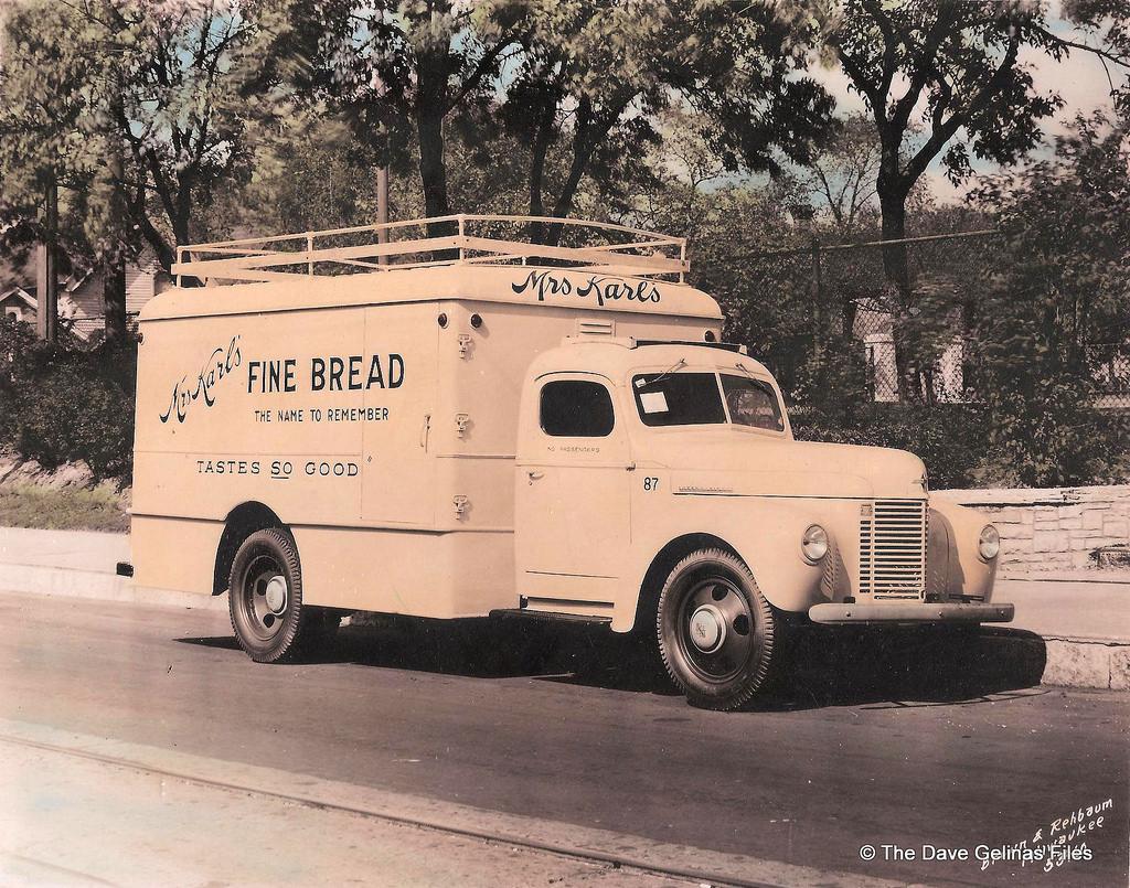 Mrs Karls Bread Truck Ca 1940s