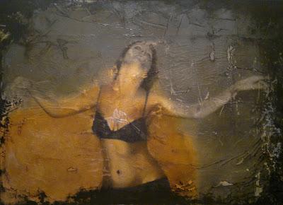 Movimiento. Tecnica mixta al oleo sobre lienzo. 160x115cm.