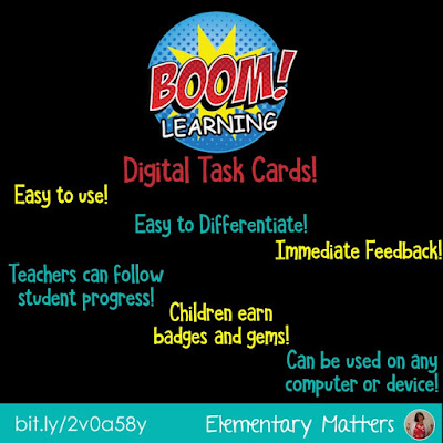 Have You Heard About Boom Digital Task Cards? They make learning fun for students and easier for teachers. If you haven't, here's a great chance to try them out!
