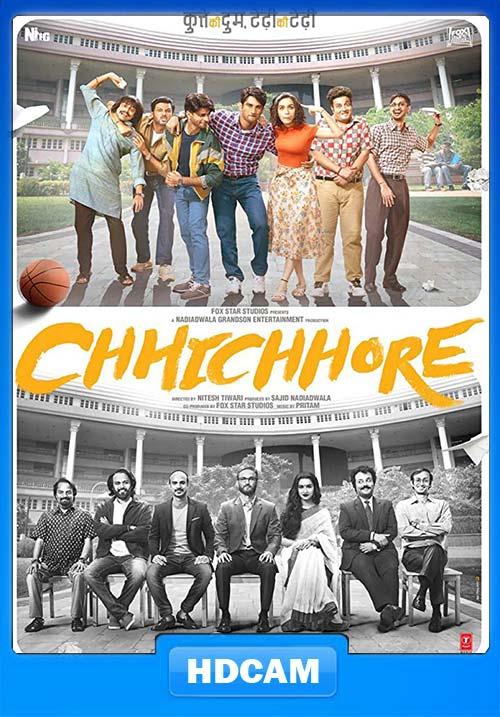 Chhichhore 2019 Hindi 720p PreDVDRip x264   480p 300MB   100MB HEVC Poster