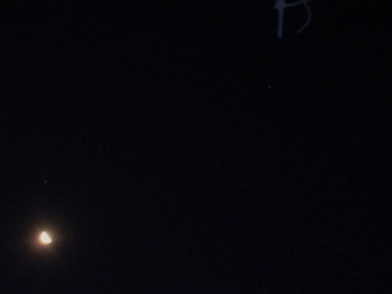 Astroblog: Mars near the Moon, August 3 2014