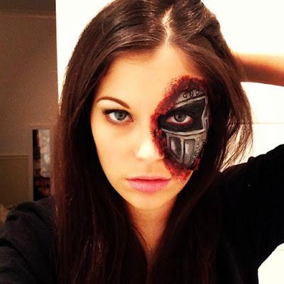 Maquillaje terminator mujer