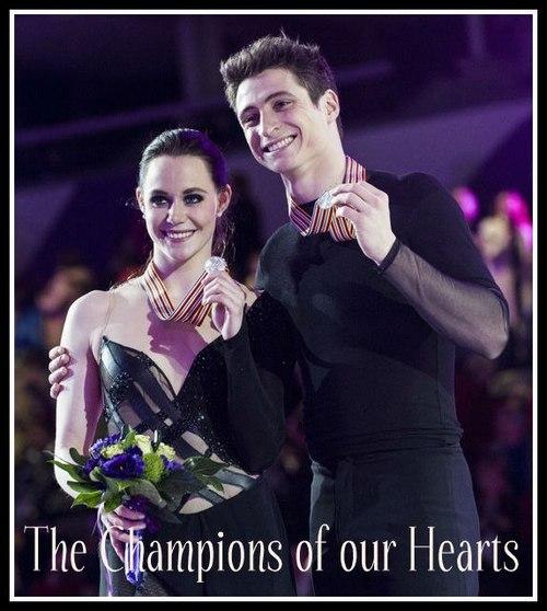 Silver championship ice dancing pair Tessa and Scott
