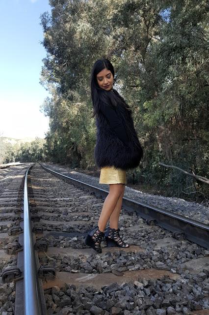 Black Fur Vest Outfit 2