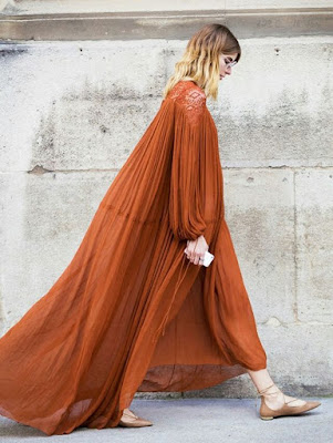 Flowy dress for fall