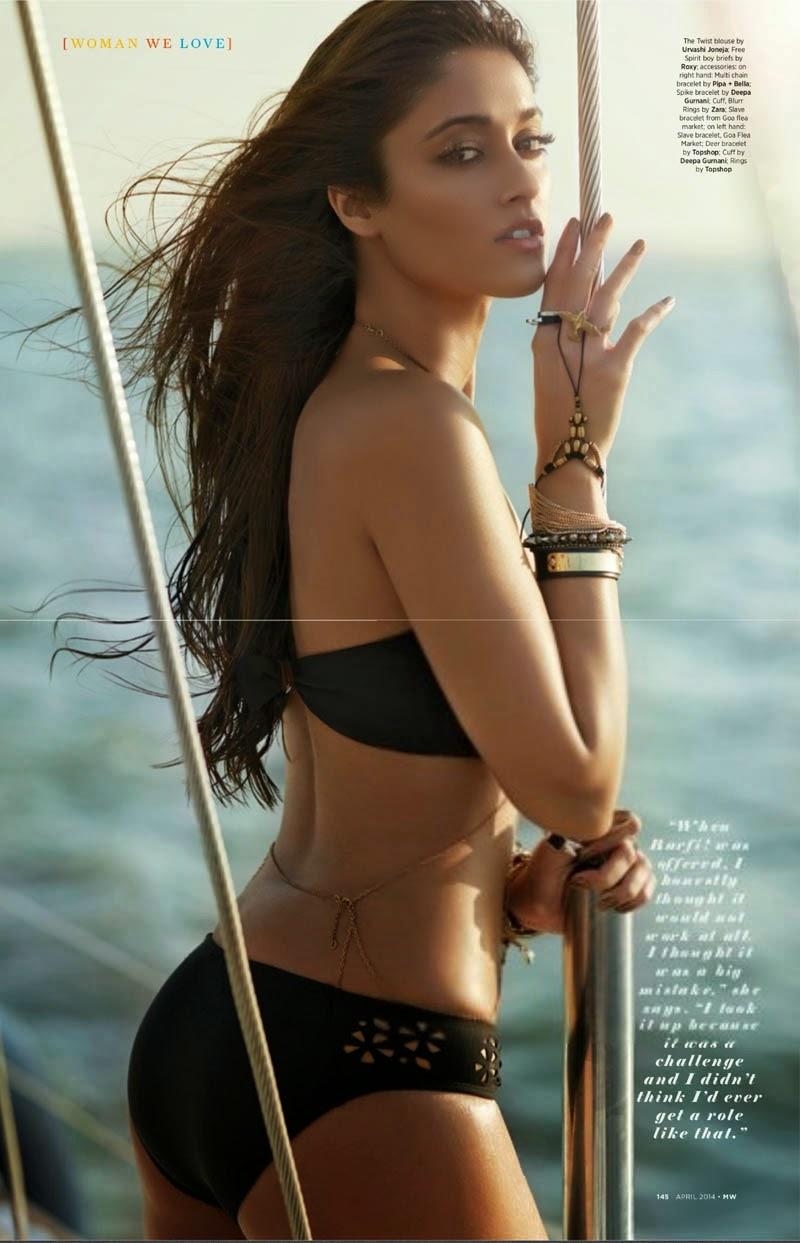 Ileana D'Cruz's Mans World Magazine Scan