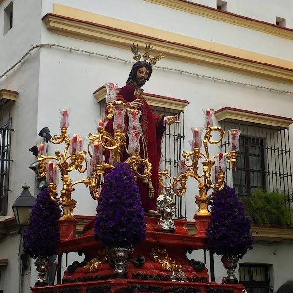Horario e Itinerario Vía Crucis presidido por el Señor de la Sagrada Cena. Jerez de la Frontera 06 de Abril del 2019